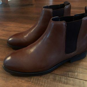 Mens Brown Express Slip On Boots
